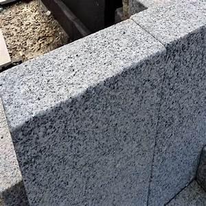 Granit Palisaden Hellgrau 8 X 20 Cm Natur Steine Org