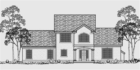 house floor plans  front view