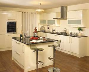 Pascal - High Gloss Cream - Pebble Kitchens