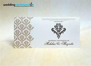 damask print foiled wedding invitation wc362 wedding With wedding invitation printers newcastle