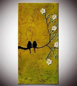 Abstract Birds Love birdsbirds Painting lovers artTextured
