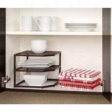 Kitchen Cabinet Organizer 2tier Corner Shelf Drawer Dish