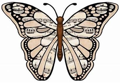 Sheet Clipart Butterflies Artbyjean Clip Printable Butterfly