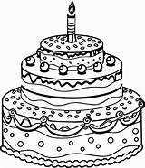 Coloring Cake Birthday Pages Drawing Printable Line Preschool Colour Colorin Getdrawings Getcolorings Candle Greetings 1st Popular Colorings Coloringhome sketch template