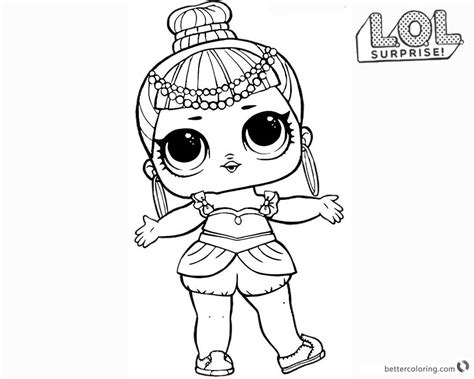 lol surprise doll coloring pages series  genie