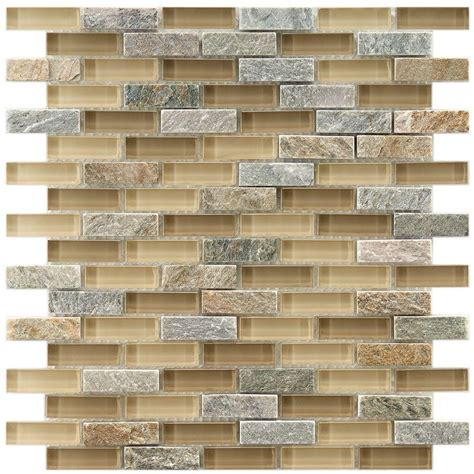 Home Depot Merola Subway Tile by Merola Tile Tessera Subway River 11 3 4 In X 11 3 4 In X