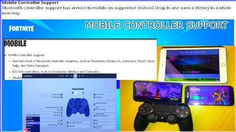 controller enabled  fortnite mobile evolving