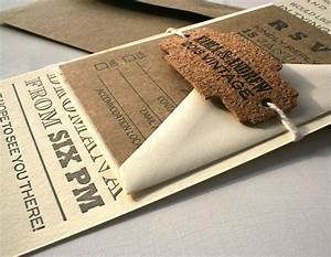 custom vintage fonts long letterpress wedding invitation With handmade wedding invitations cork