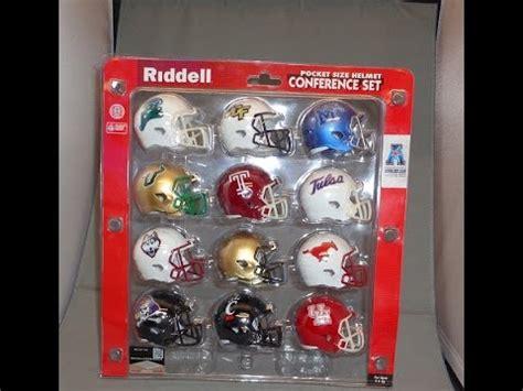american athletic conference pocket pro helmet set custom