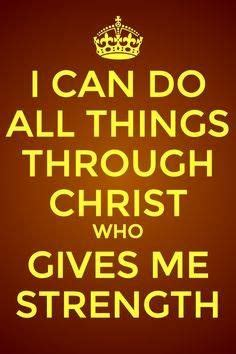 We need god's strength daily, and the lord is our strength every day. Philippians 4:13 I can do all this through him who gives ...