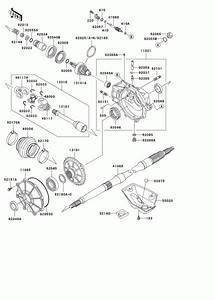 1999 Kawasaki Prairie 300 4 U00d74 Kvf300a Drive Shaft  Rear