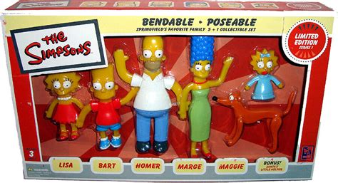 Simpsons Bendable Poseable Figure Collection 6 Piece Box