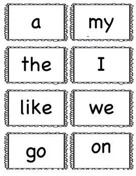 site words for preschoolers flashcards freebie kindergarten sight words flash cards large 633