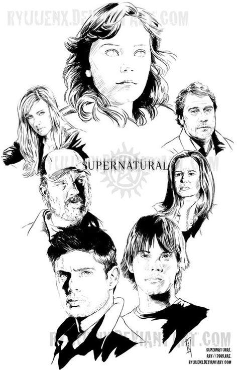 supernatural coloring pages    print