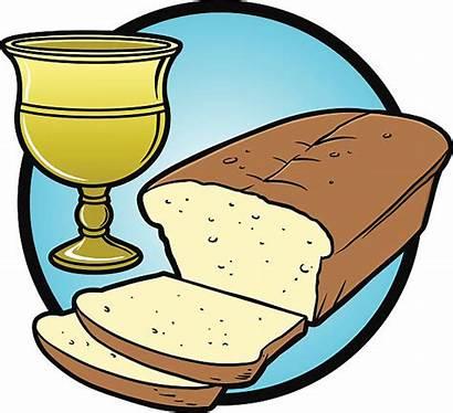 Communion Bread Wine Clip Illustrations Vector Icon