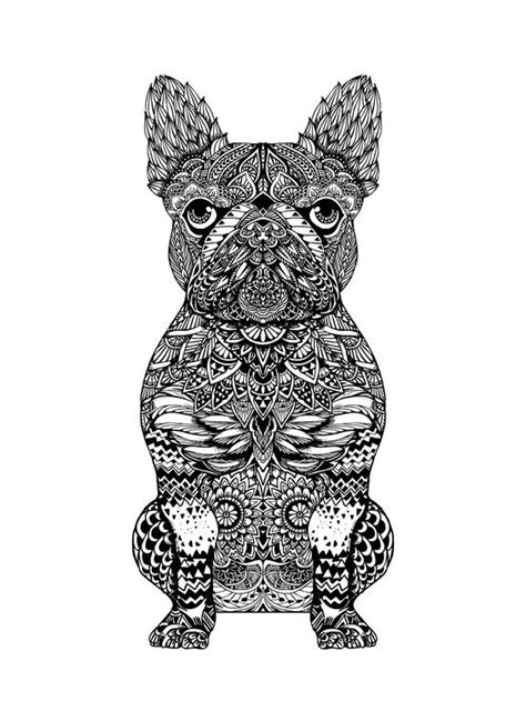 Mandala Frenchie Art Print | Dog coloring page, Horse coloring pages, Bulldog tattoo