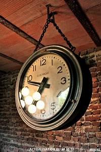 Horloge Murale Industrielle : horloge industrielle ~ Teatrodelosmanantiales.com Idées de Décoration