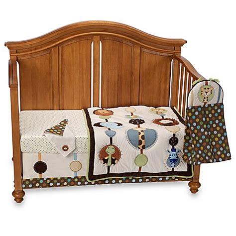 jungle crib bedding set nojo 174 jungle tales 8 crib bedding set buybuy baby