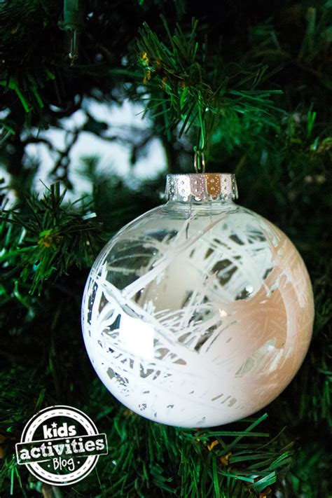 homemade christmas ornaments  clear balls simple   kids