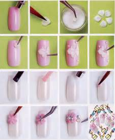 Flower nail art designs step by how you can do it