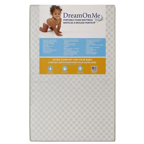 on me 3 portable crib mattress on me 3 portable crib mattress white new ebay