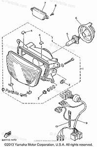 Yamaha Motorcycle 1991 Oem Parts Diagram For Headlight