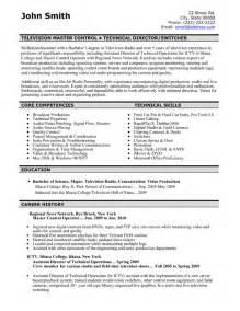 master resume exles television master controller resume template premium resume sles exle