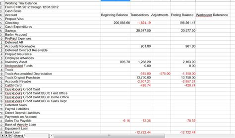 for the pro s export working trial balance to excel a
