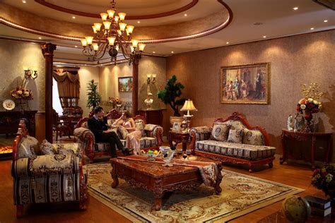 luxury apartment furniture red oak solid wood sofas furniture sets fabric sofas for living room luxury home furniture