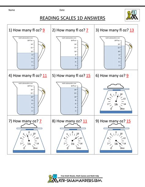 free math worksheets for grade measurement 1000