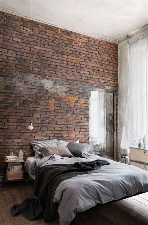 Urban Red Brick Wallpaper For Bedrooms And More