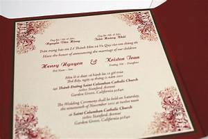 bilingual english and vietnamese oriental by With etsy bilingual wedding invitations