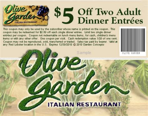 olive garden coupon code october 2015