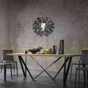 Table Bois Metal Extensible : table en bois 4 pieds ~ Teatrodelosmanantiales.com Idées de Décoration