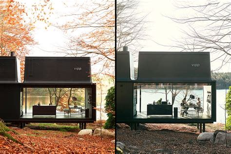 Pedal To The Metal A Sleek House That Puts A For Cars On Display by Vipp Unveils A Sleek All Clad And Play Shelter