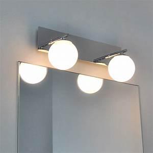Lampe Miroir Salle De Bain : lampe pour salle de bain clairage miroir applique murale ~ Dailycaller-alerts.com Idées de Décoration