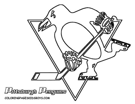 Penguins Logo Colouring Pages