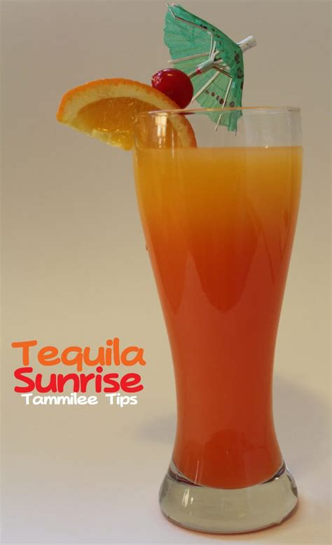 tequila drink tequila sunrise