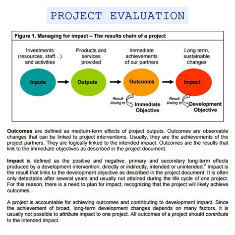21922 project evaluation form 9 sle project evaluation templates to sle