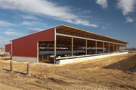 Cattle Barns Designs by Delmar Ia Monoslope Beef Barn Summit Livestock Facilities