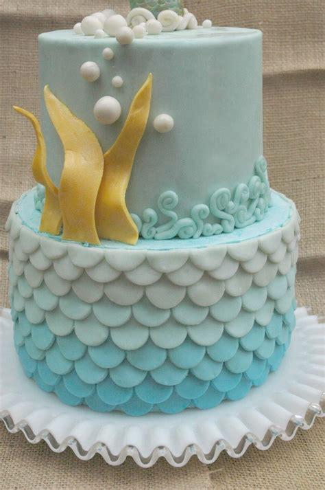 Blue Ombre Ocean Birthday Cake Cakecentralcom