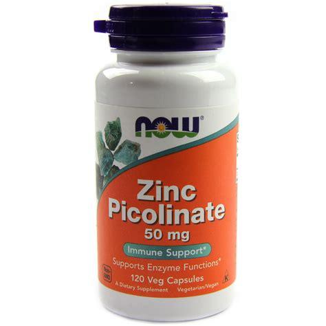 cuisine zinc now foods zinc picolinate 50 mg 120 capsules