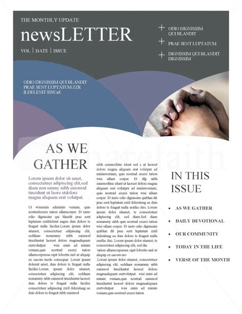 Free Christian Newsletter Templates by Christian Newsletters Template Newsletter Templates