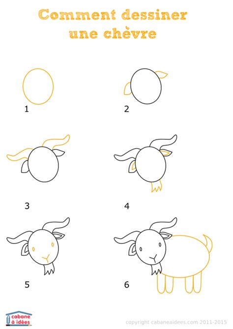 apprendre 224 dessiner une ch 232 vre en quelques 233 simples pictures to pin on