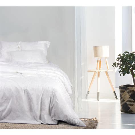 drap plat 2 personnes drap blanc lit 2 personnes stonewashed coton bio