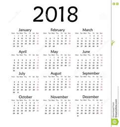 Year 2018 Yearly Calendar Printable