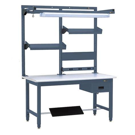 iac workbench   drawer footrest  post shelf system
