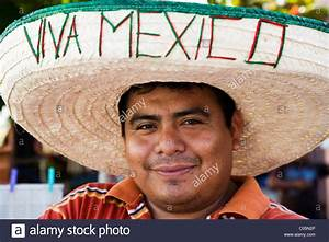 Portrait of Mexican man from Yucatan wearing a sombrero ...