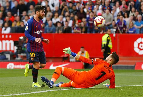 'Decisive' Messi downs Sevilla with 50th career hat-trick ...