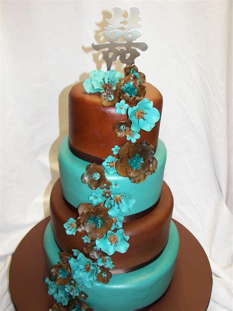jade  brown wedding cake cakecentralcom